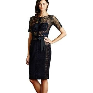 Anthropologie Byron Lars Carissima navy lace dress